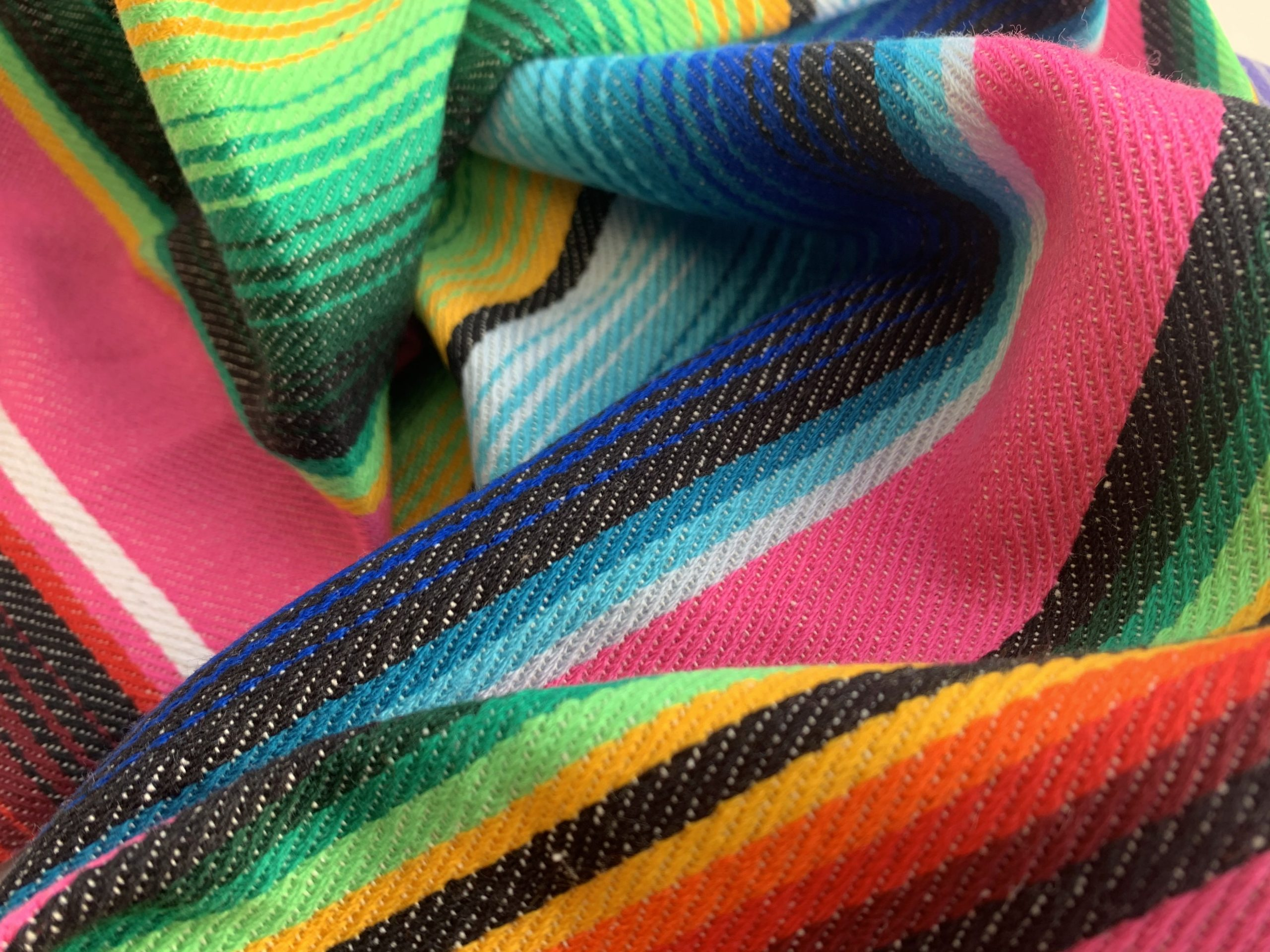 Serape fabric used to make a graduation stole